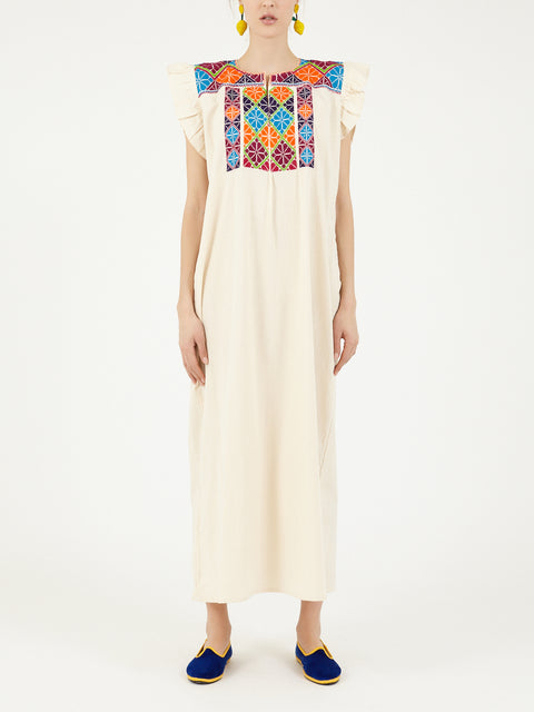 Mexican Chenteña cotton dress