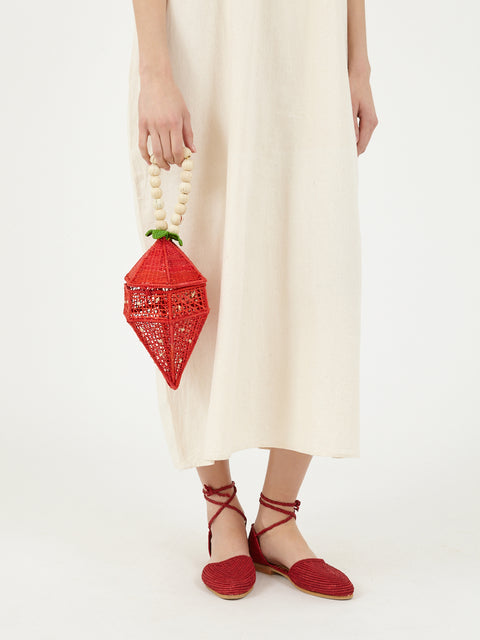 Colombian Iraca palm Strawberry bag
