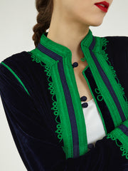 Morocco Silk Velvet embroidered jacket coat