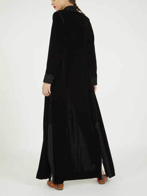Morocco Velvet embroidered long coat jacket