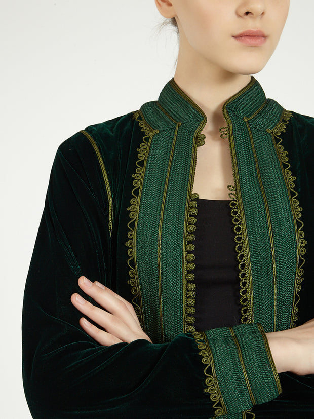 Moroccan long velvet robe