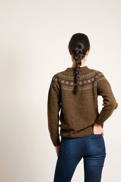 Scottish Fair Isle Mélange Sweater