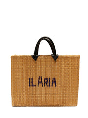 Tunisian rush basket bag customizable personalise write your name