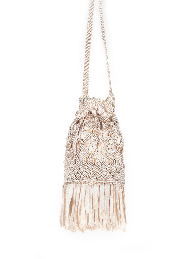 Colombian silk Macramé bag