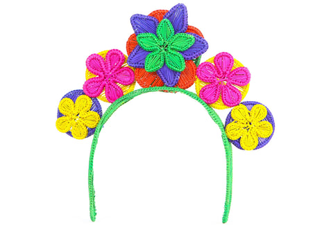 headpiece iraca palma colombian multicolor crown
