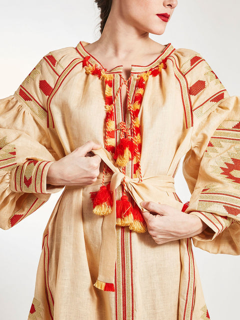Ukrainian Vyshyvanka dress embroidery handmade