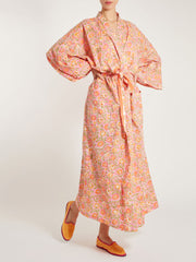 Indian cotton dressing gown block print handmade