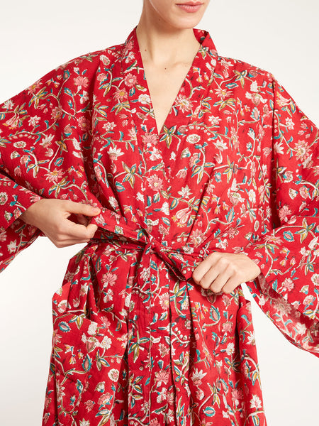 Indian cotton dressing gown
