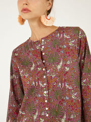 Indian cotton shirt dress handmade block print