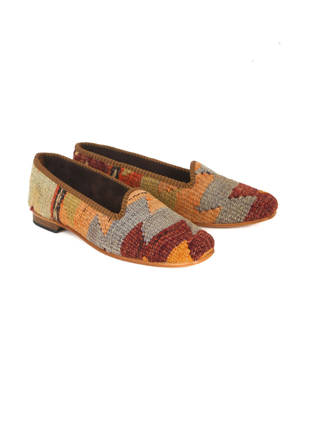 turkish kilim slippers leather one of a kind unique shoes turkey