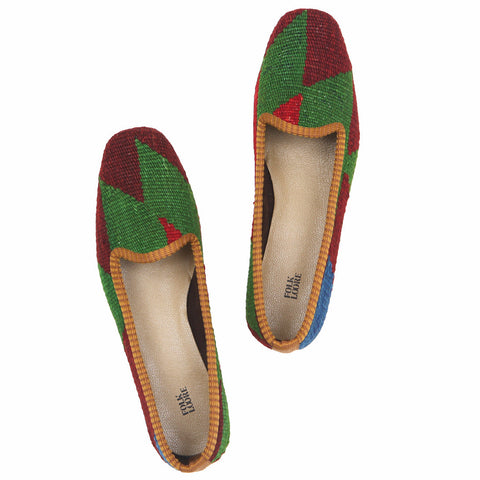 Turkish kilim slippers - size 39