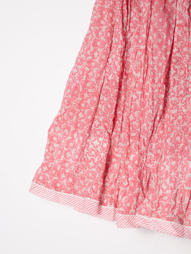 Maharani cotton skirt, ETHICAL FASHION, CRAFTSMANSHIP, SUSTAINABLE FASHION, TRADITIONAL FASHION, ETHNIC FASHION, BOHEMIAN FASHION, MODA ETICA, MODA SOSTENIBILE, TECNICHE ARTIGIANALI, MODA TRADIZIONALE, MODA ETNICA, BOHEMIAN DRESS, MADE IN INDIA, HANDMADE IN INDIA, BLOCK PRINT, FLOWER PRINT, ETNIC PRINTS, STAMPE INDIANE, STAMPE ETNICHE, COTTON SKIRT, SUMMER SKIRT, SUMMERWEAR, BEACHWEAR, GONNA DI COTONE, GONNA ESTIVA