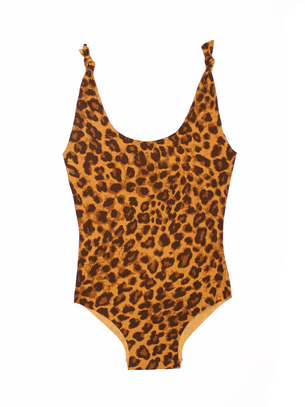 ISOLE & VULCANI for FOLKLOORE Leopard swimsuit