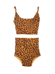 ISOLE & VULCANI for FOLKLOORE Leopard bikini set
