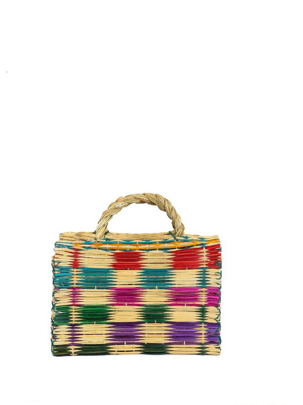 Portuguese large reed straw basket