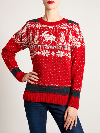Scottish Fair Isle Sweater shetland knitwear nordic christmas jumper
