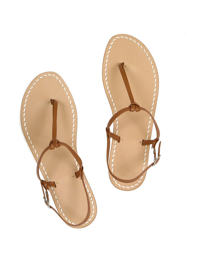 Italian Capri natural Nodino sandals