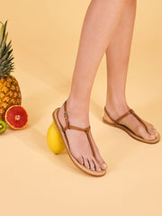 Italian Capri yellow Nodino sandals