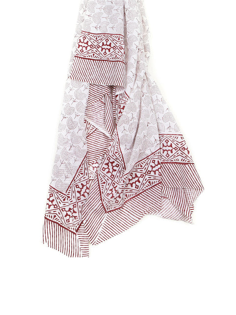 Indian cotton sarong block print handmade