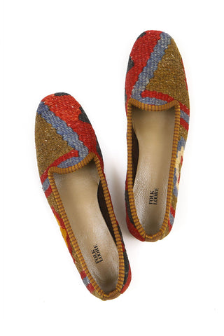 Turkish kilim slippers - size 38