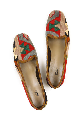 Turkish kilim slippers - size 40