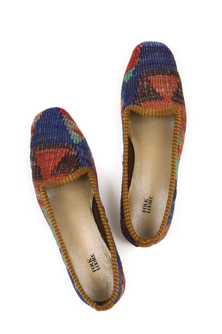 Turkish kilim slippers - size 36