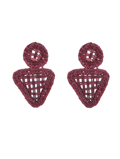 Colombian Iraca palm earrings