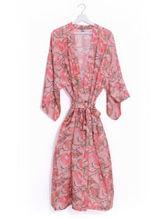 Indian satin dressing gown