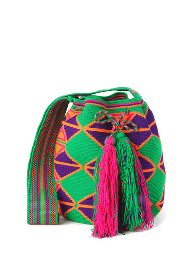 handmade Colombian Wayuu mini mochila bag