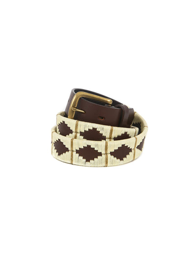 handmade argentinian leather polo belt