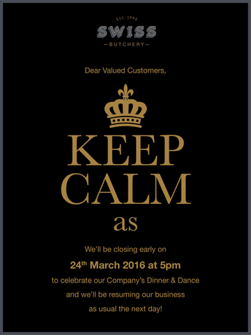 Annual Company Dinner - 24th March 2016!