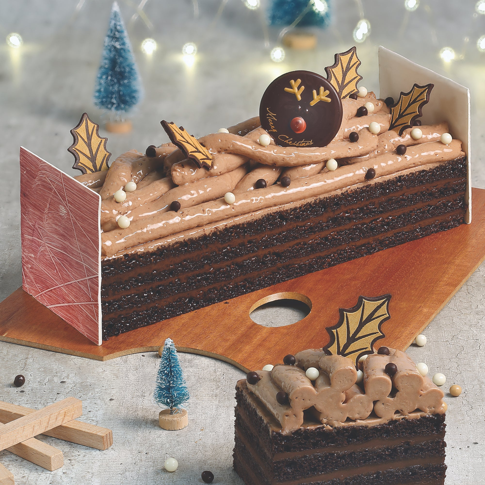 87. MONTREUX PATISSERIE YULE LOG - COFFEE CHOCOLATE - Swiss Butchery | A Cut Above | Premium Butchers Since 1994