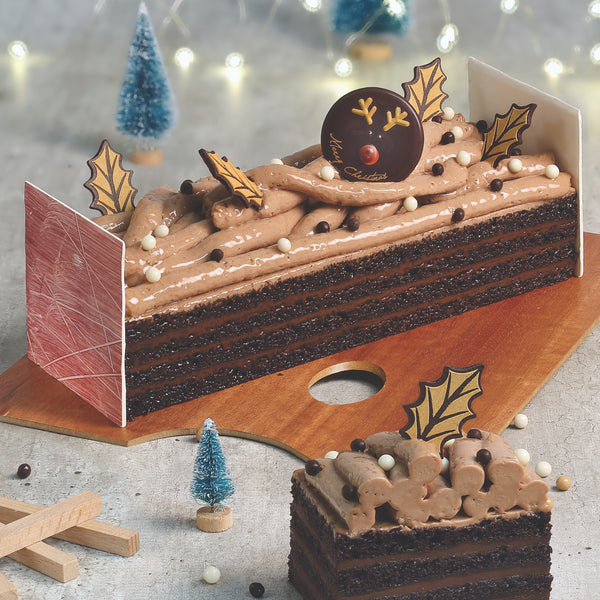 87. MONTREUX PATISSERIE YULE LOG - COFFEE CHOCOLATE