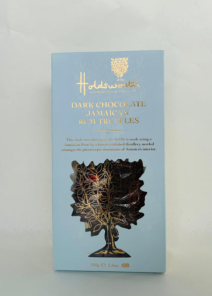 38. HOLDSWORTH DARK CHOCOLATE RUM TRUFFLES - 100G