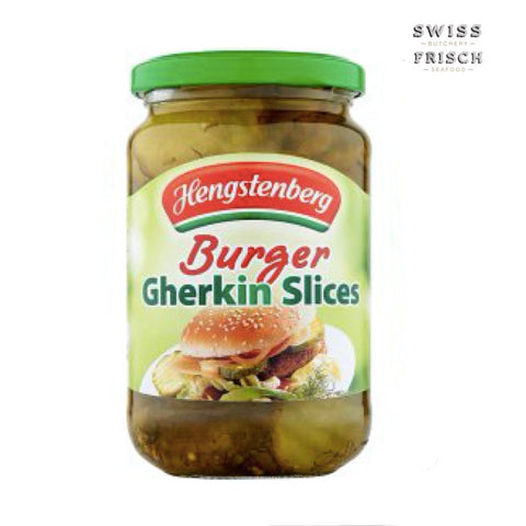 Hengstenberg Gherkins Burger, slices