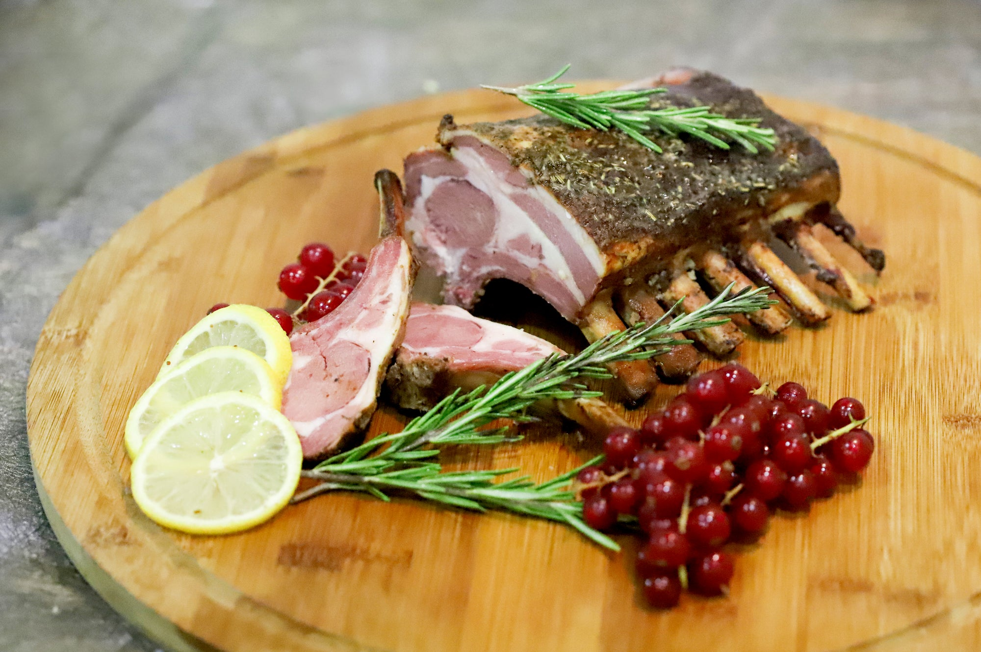 28. OVEN BAKED ROSEMARY LAMB RACK - 800G - Swiss Butchery | A Cut Above | Premium Butchers Since 1994
