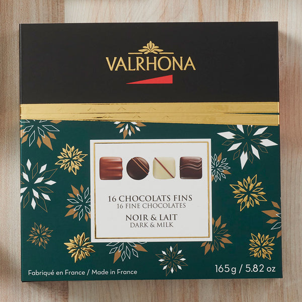 72. VALRHONA GIFT BOX OF 16 ASSORTED FINE CHOCOLATE - 165G