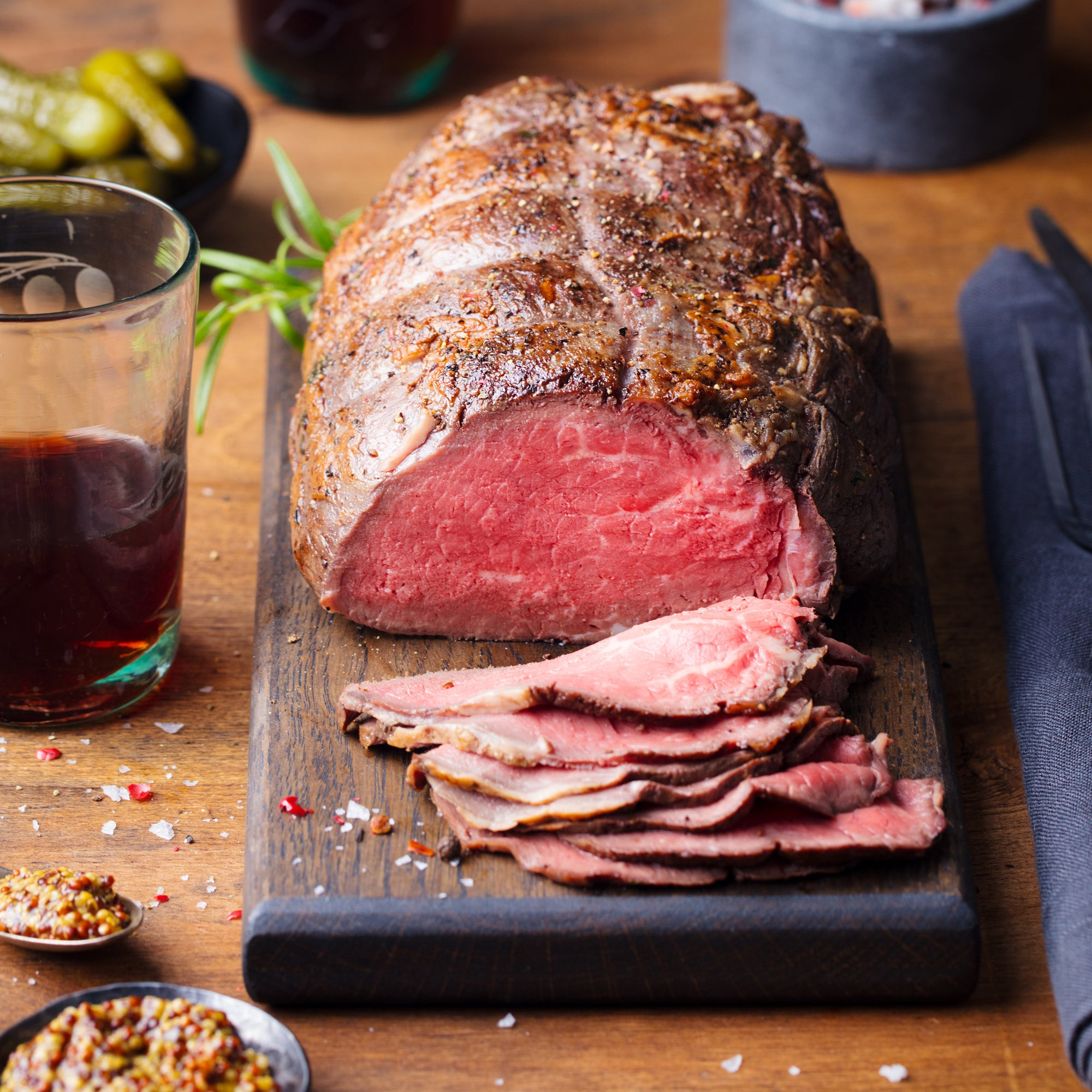 16. ROAST ANGUS BEEF (200 DAY GRAIN-FED) WITH RED WINE JUS - 1KG - Swiss Butchery | A Cut Above | Premium Butchers Since 1994