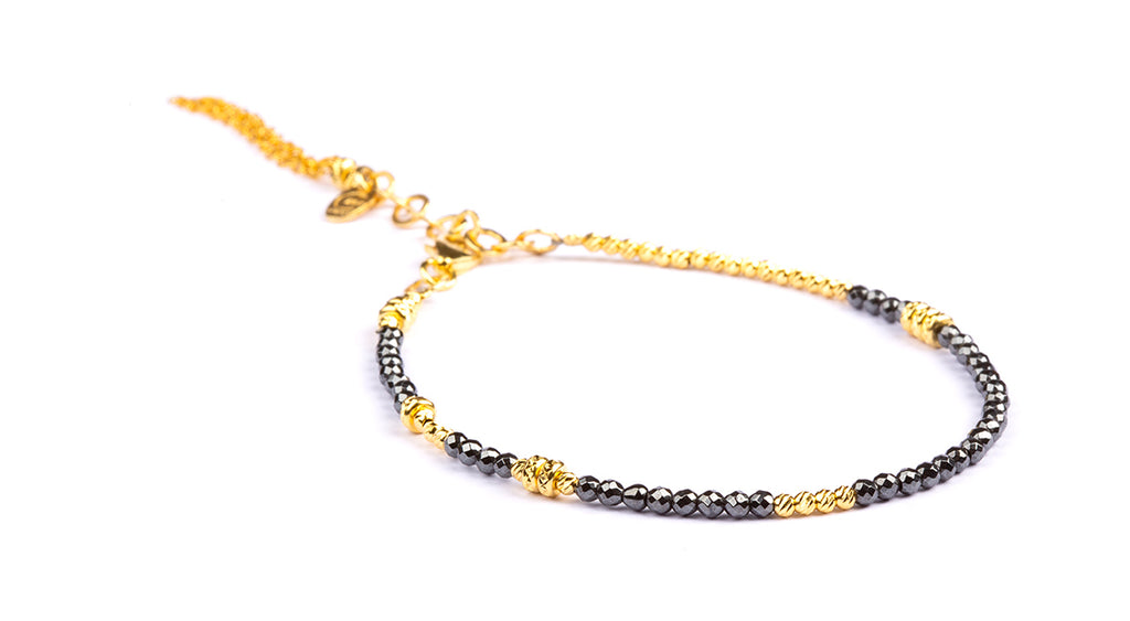 Abby Facet Hematite -  Gold