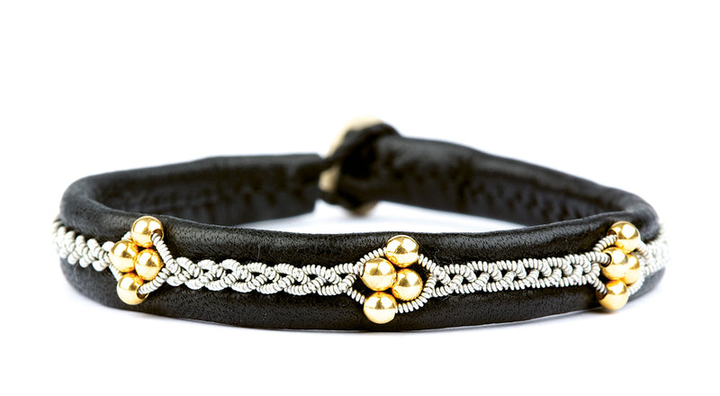 Agnetha Gold Beads Black