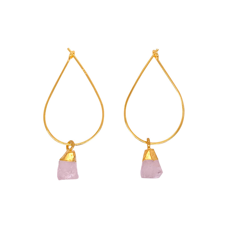 Alicia Rose Quartz Earrings - Gold