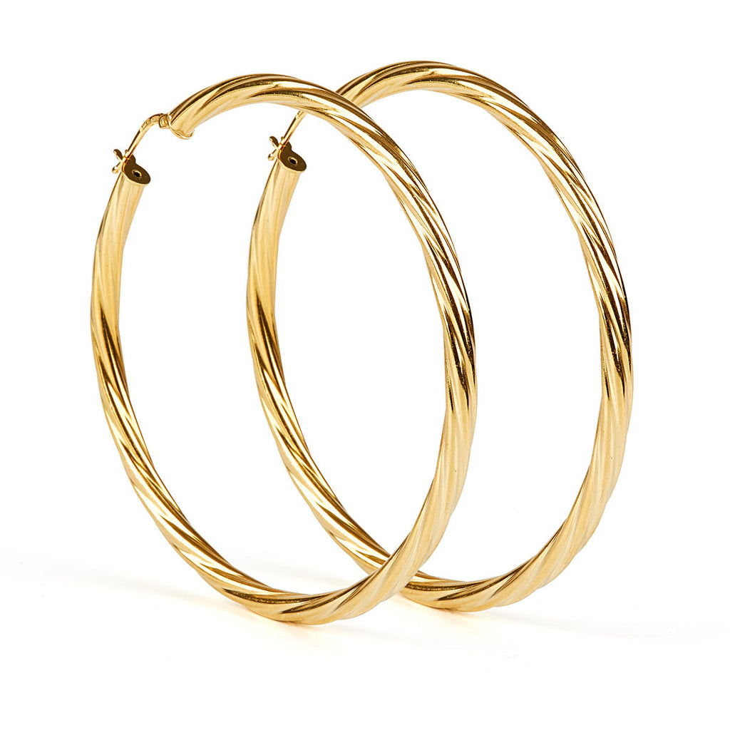 Alta Earrings GP- 60mm