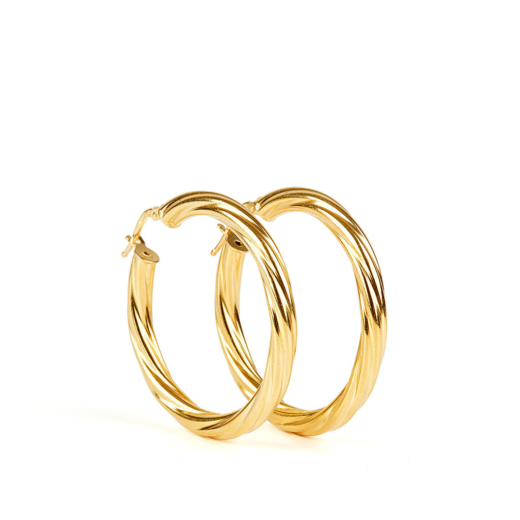 Alta Earrings GP- 30mm
