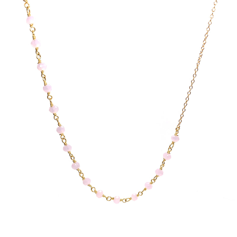 Anne Rose Quatz Necklace - Gold