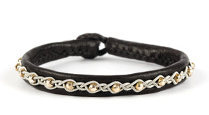 Annika Facet Gold Beads Black