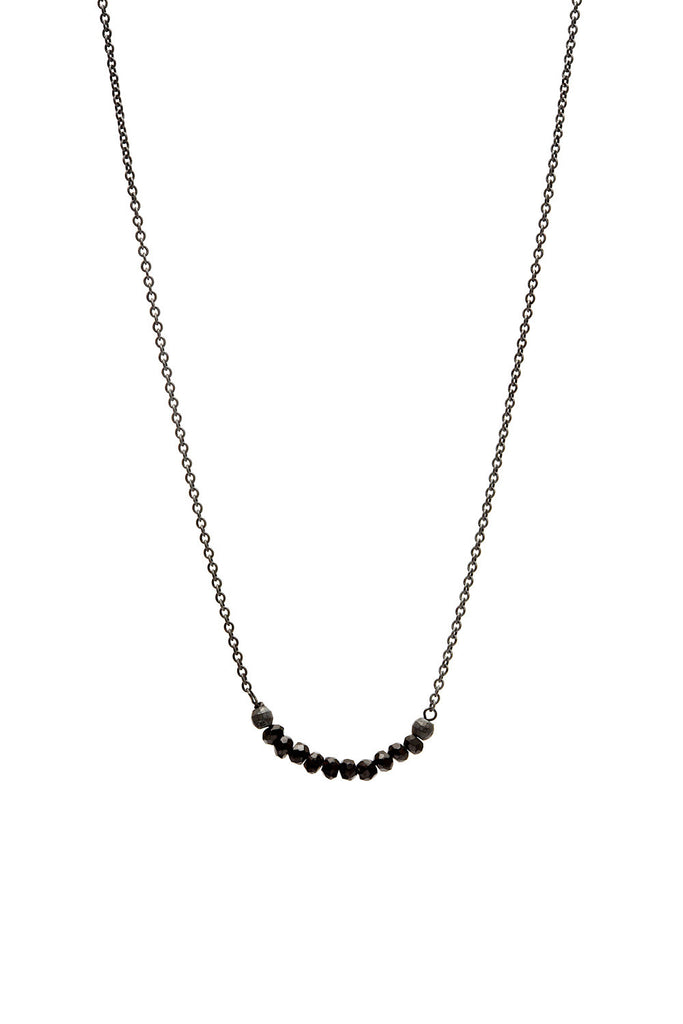 Ellen Black Spinel Necklace SS