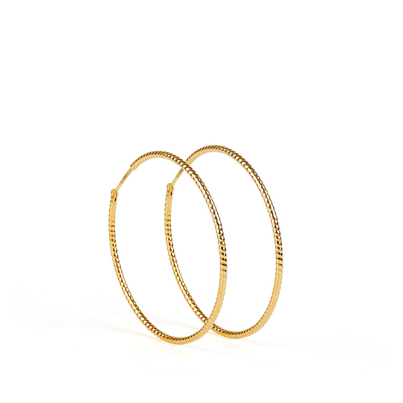 Floro Earrings GP - 30 mm