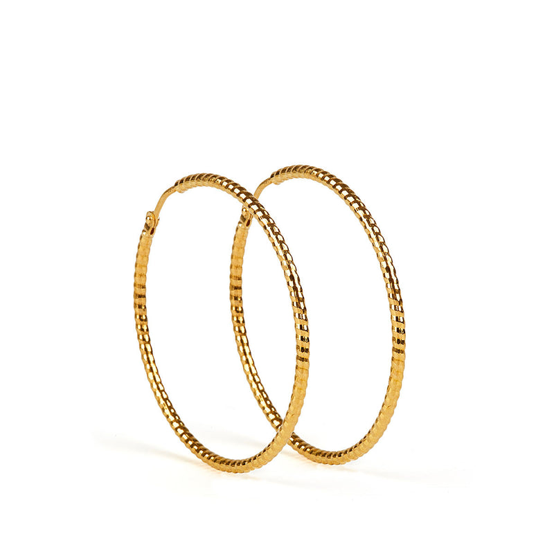 Floro Earrings GP - 40 mm