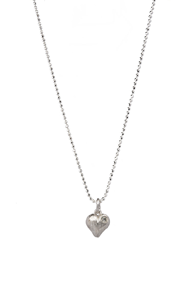 Heart of Silver with Diamond
