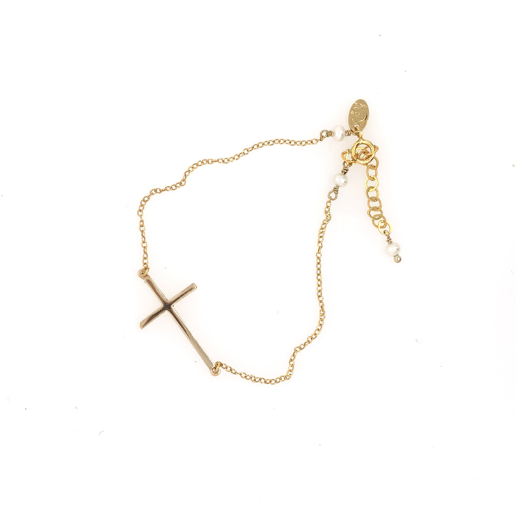 Mary Cross Bracelet - Gold
